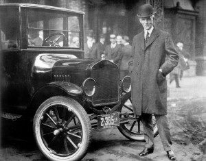 Henry Ford next to Model T 1921 - From the Collections of The Henry Ford