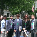 Pictured (from Left to Right): Rachel Alper, Matthew Tung, Andrew Ke, Davis Dunaway, Samantha McGinnis, Lendy Dunaway