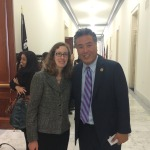 Maker Ed's Director of Strategic Alliances Rachel Goldman Alper with Congressional Maker Caucus Co-Chair Congressman Mark Takano