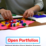 Open Portfolios: National Working Group Meeting Summary