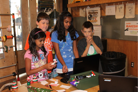 During our Summer Camp 2014, kids explored rules, systems and computer programming through the process of designing both physical and digital games. Participants were encouraged to create informally and collaboratively, the same way that the MAKESHOP team works.