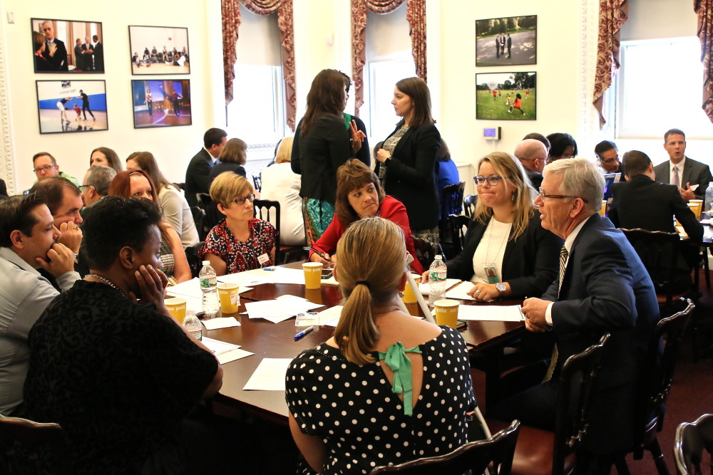 making and education roundtable event at White House