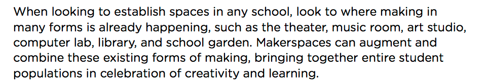 Makerspace Playbook quote