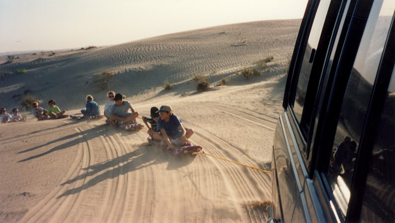 Sand Tobaggan in UAE 1997