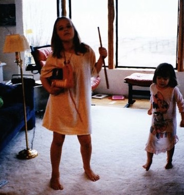 My older sister and I loved making music and super cool dance moves