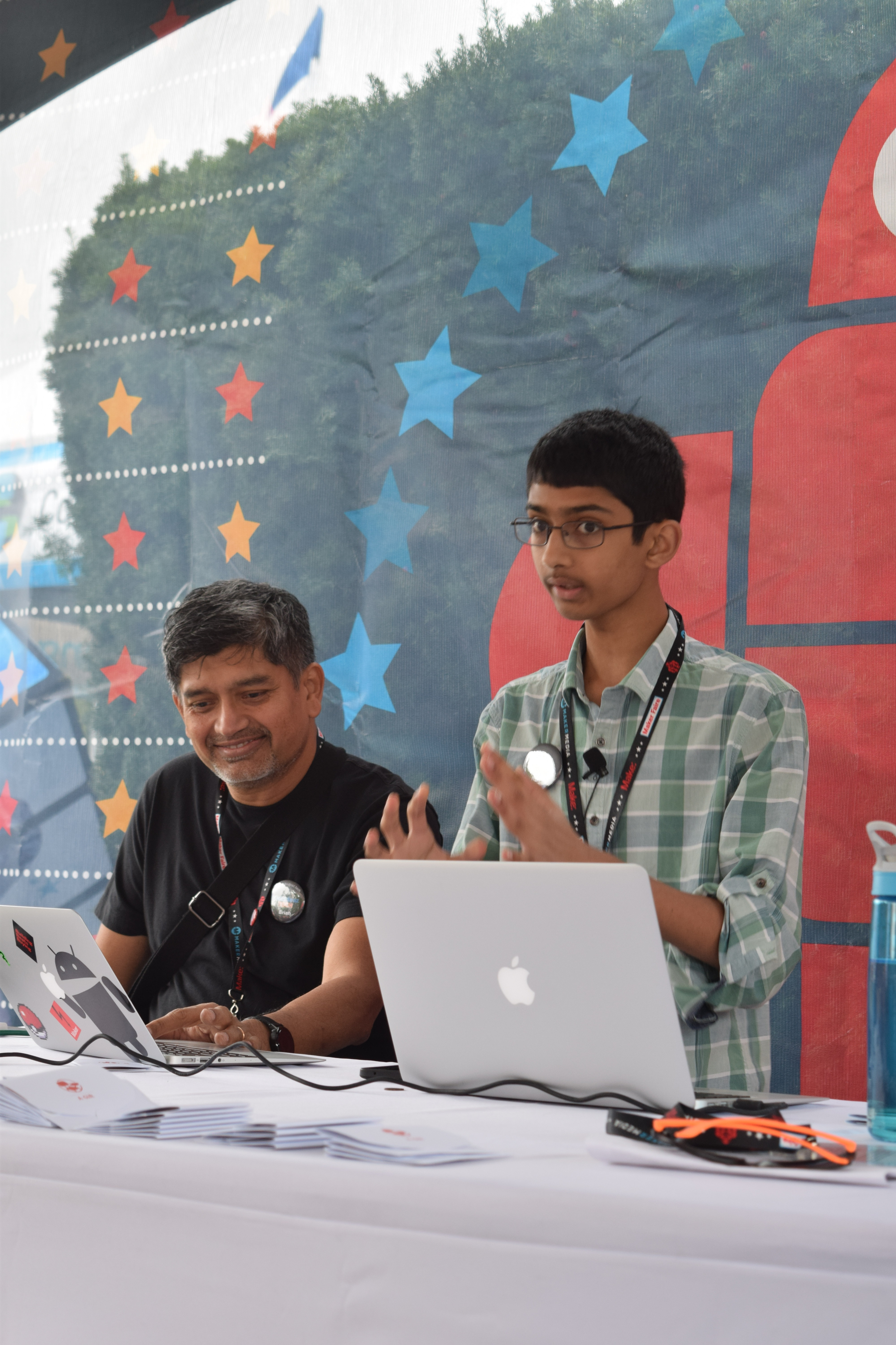 Nathaniel Dsouza shares his idea for kids to learn coding with assistance from his dad.