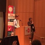 Young Maker Julian Waters presents at the Education Forum in New York