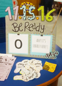 VISTA members made a countdown clock for the Wonder Workshops Grand Opening