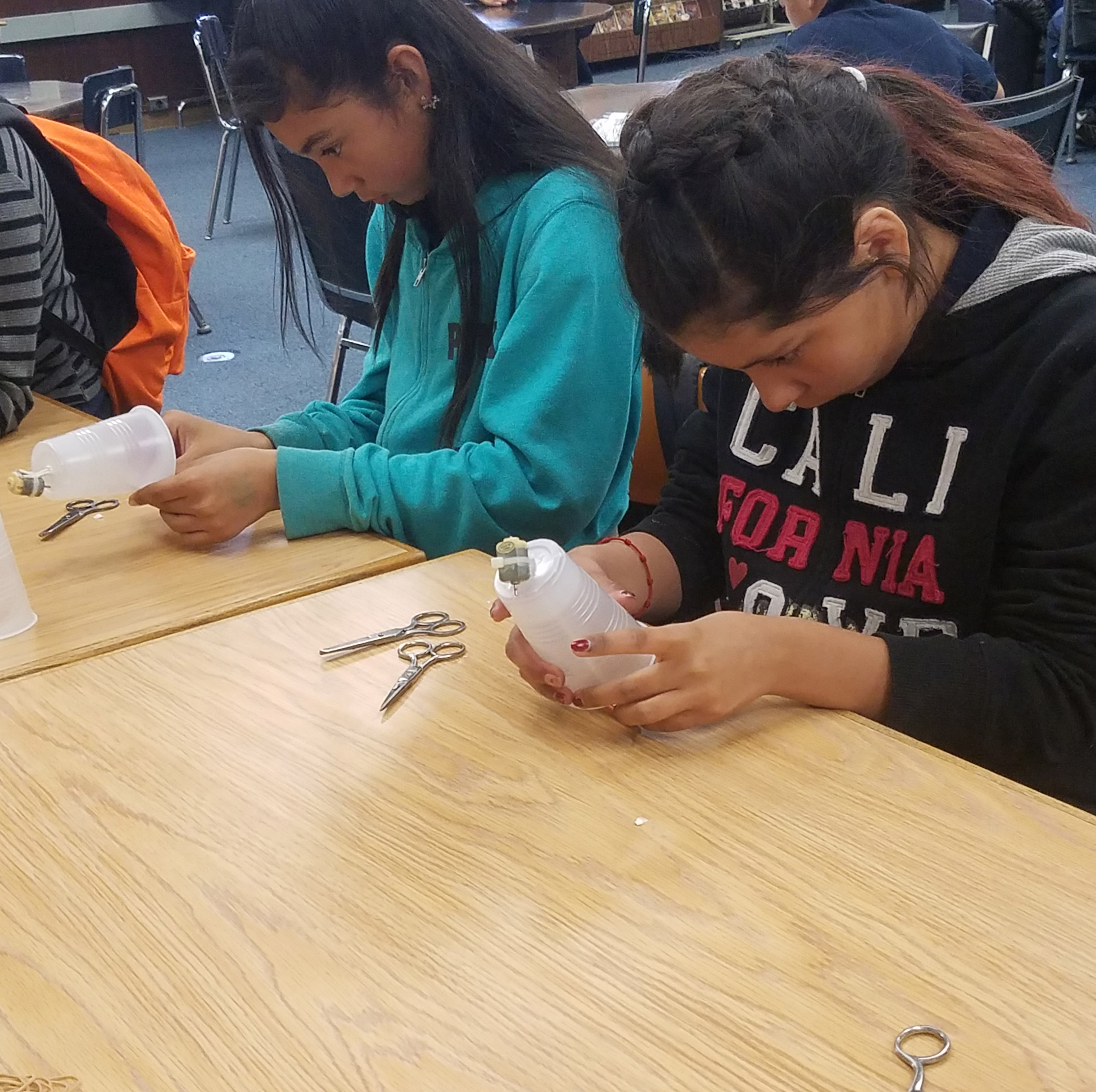 San Fernando students working on a project