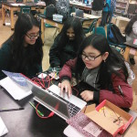 Students working in the CREATE Studio at Roosevelt Middle School in Oakland, CA