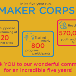 Maker Corps Ending After Five Inspiring Years