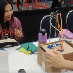 Earthquake Engineering and Cardboard Linkages at the CA STEAM Symposium