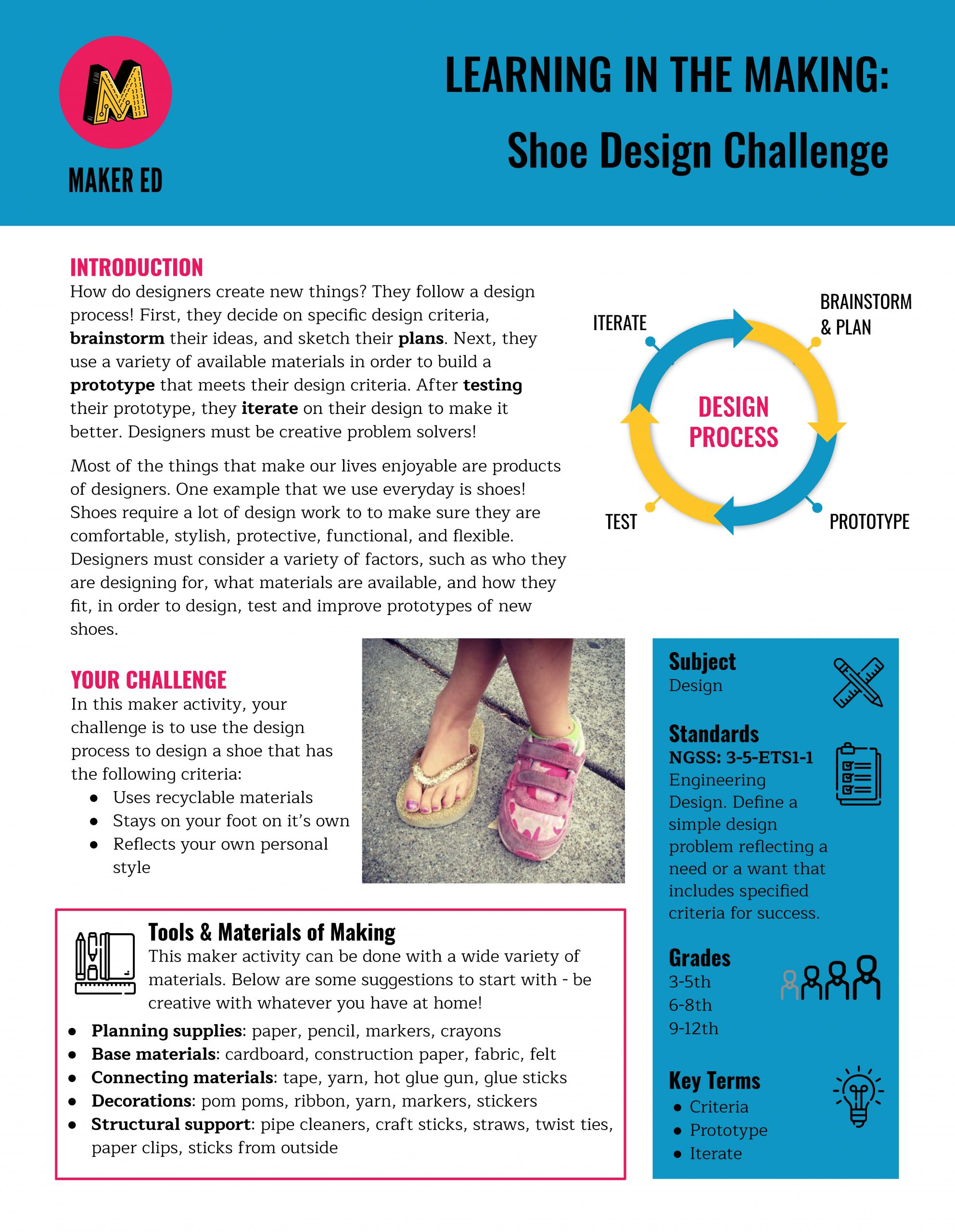 Learning in the Making: Shoe Design Challenge