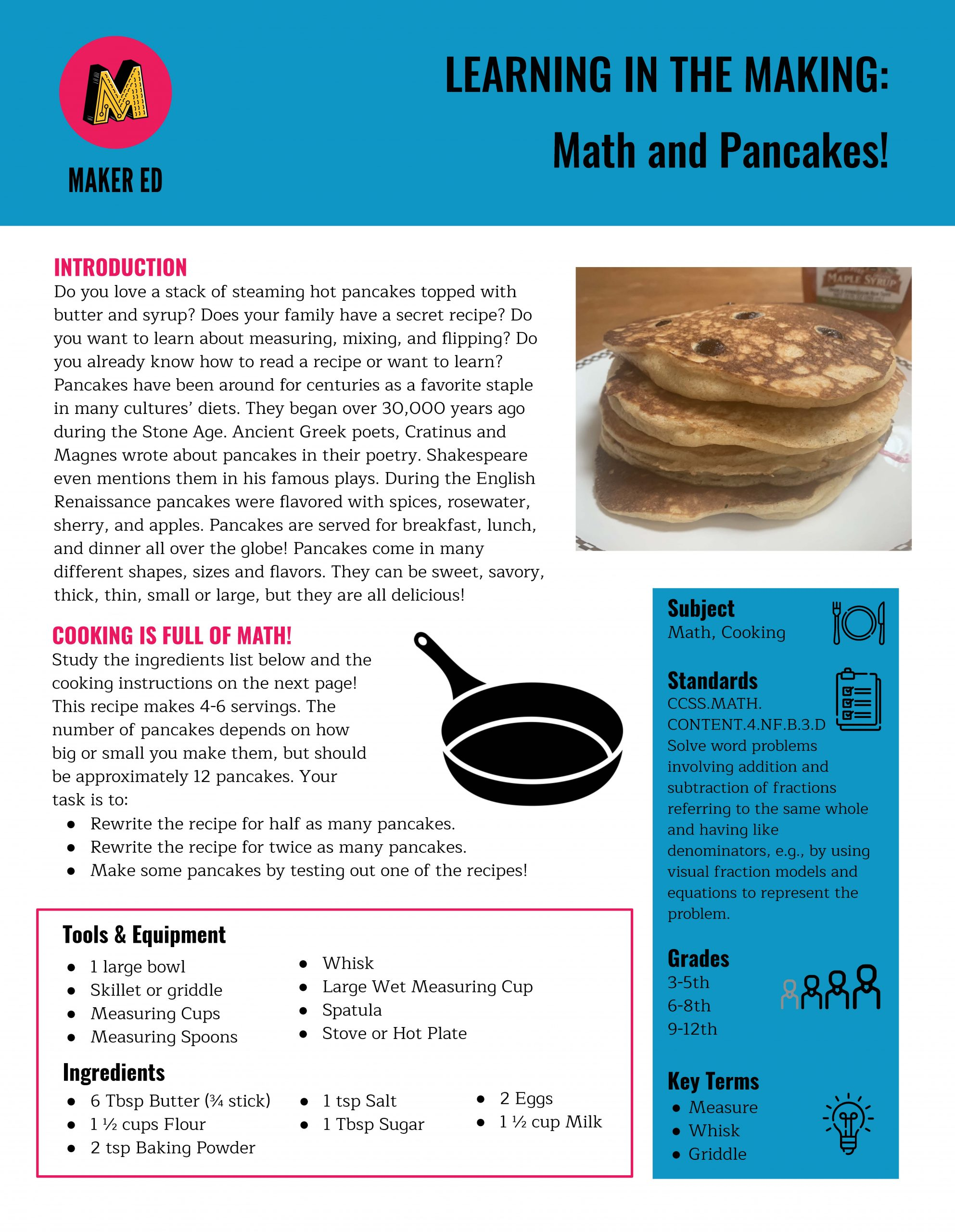 Learning in the Making: Math and Pancakes!