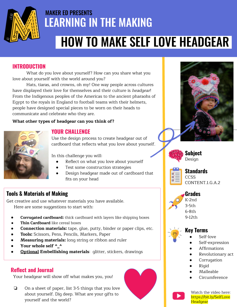 Thumbnail image of the Self-Love Headgear Project Guide (in English)