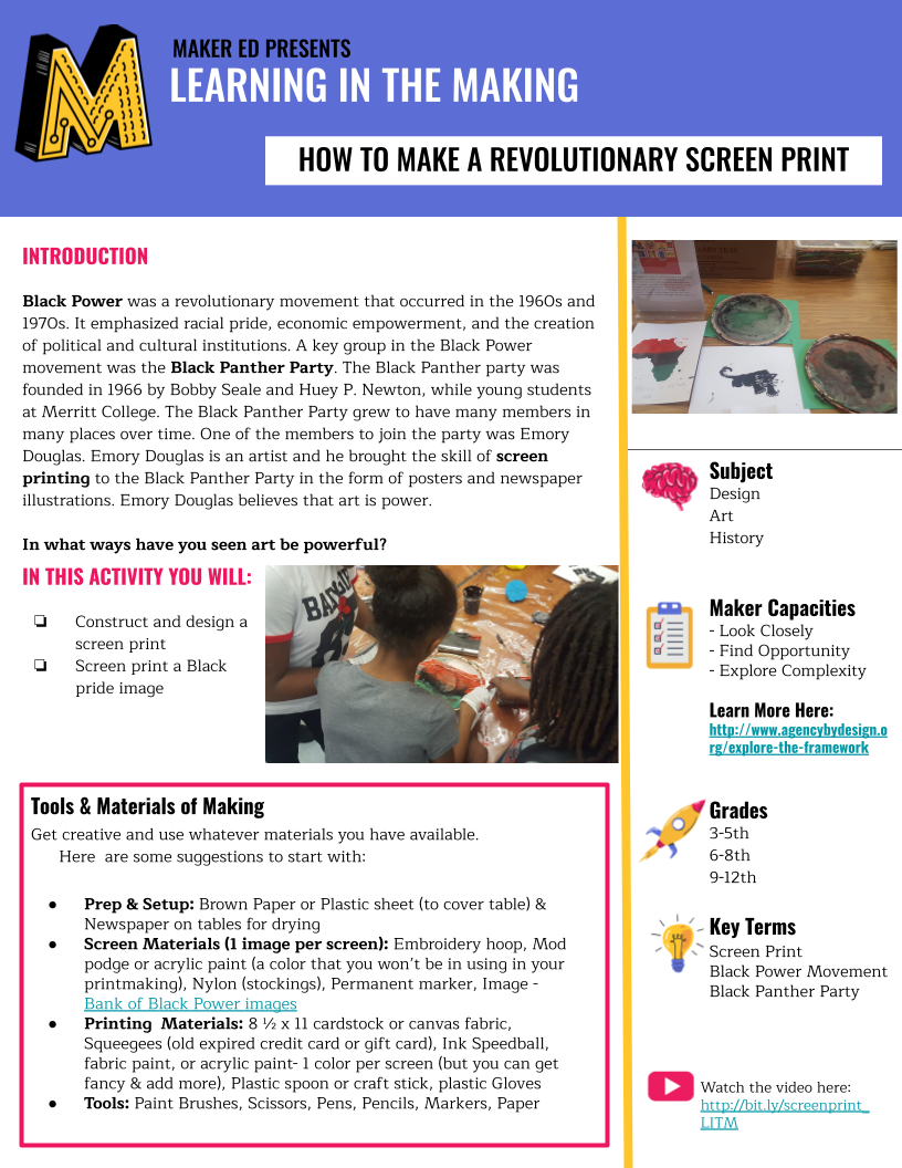 Image of a PDF: PROJECT GUIDE _ Revolutionary Screen Printing (English)